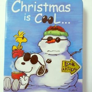 Peanuts Snoopy Christmas is Cool Tin Hinged Lid